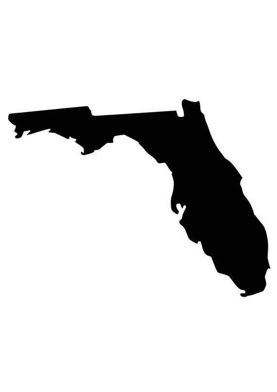 570x806 State Of Florida Outline Laptop Cup Decal Svg Digital Download