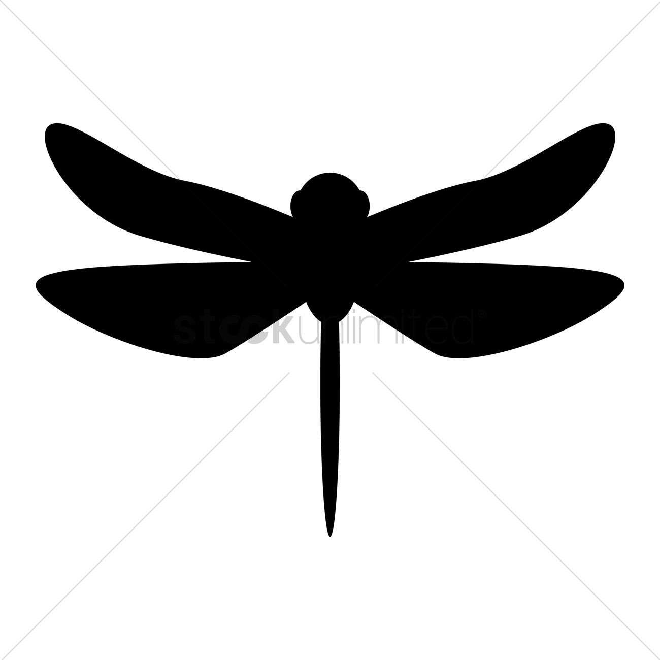 1300x1300 Dragonfly Silhouette Vector Image