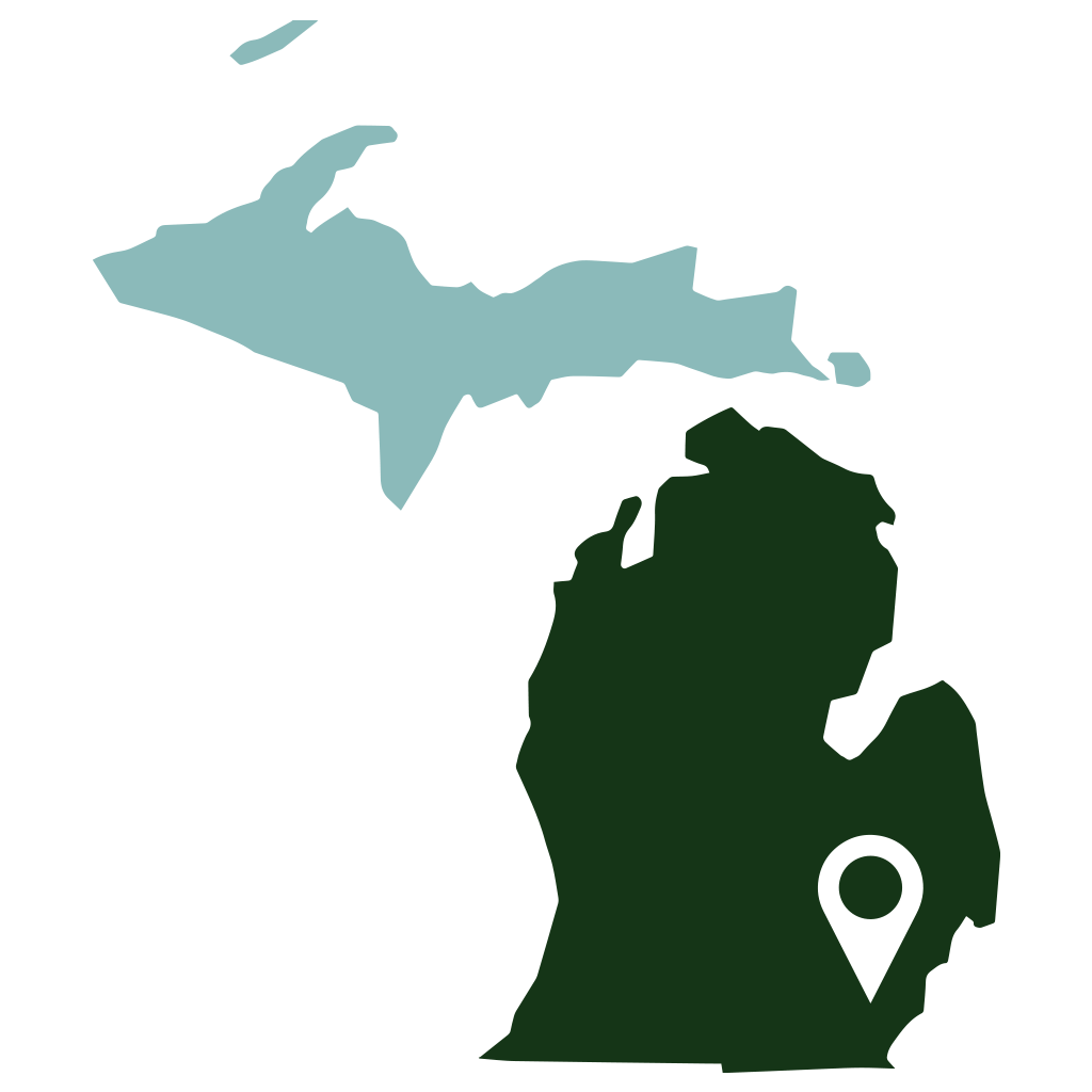 State Of Michigan Silhouette At Getdrawingscom Free For Personal - Us-map-michigan-state