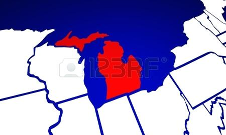 450x270 Maps United States Map Michigan On World New Detroit. United