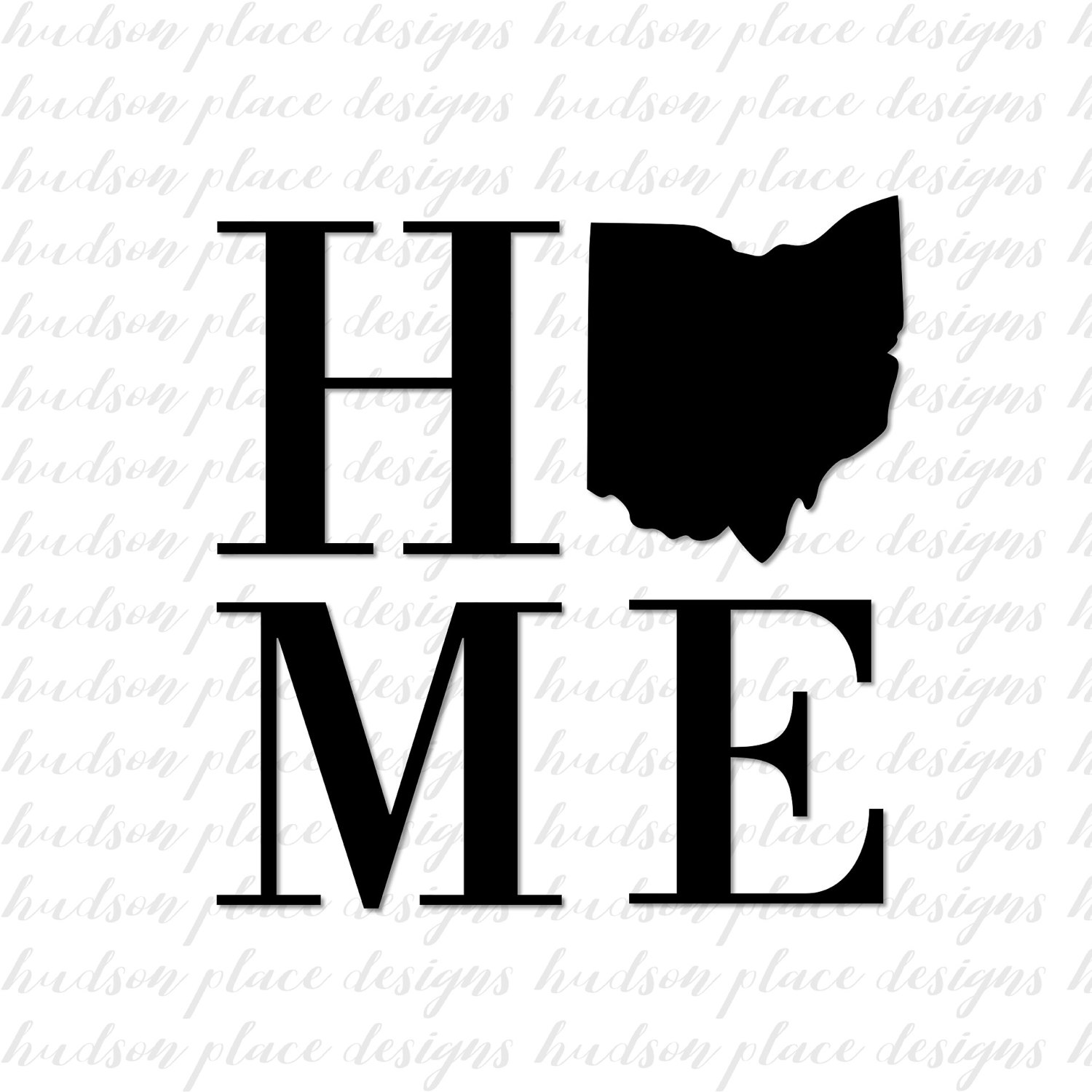 1500x1500 Home State Ohio Svg File Png File Pdf File Home Sign Sign Stencil