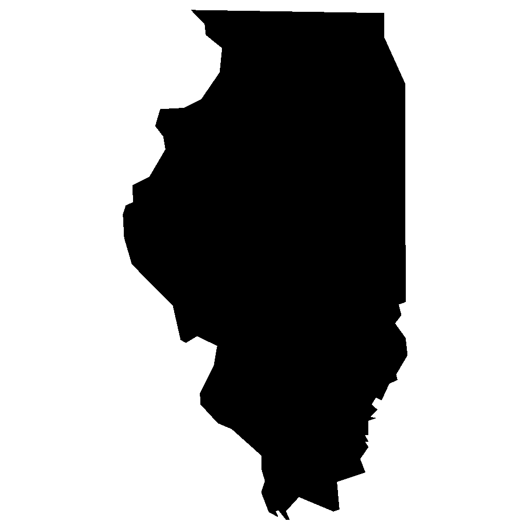 1024x1024 Free State Of Illinois Clipart