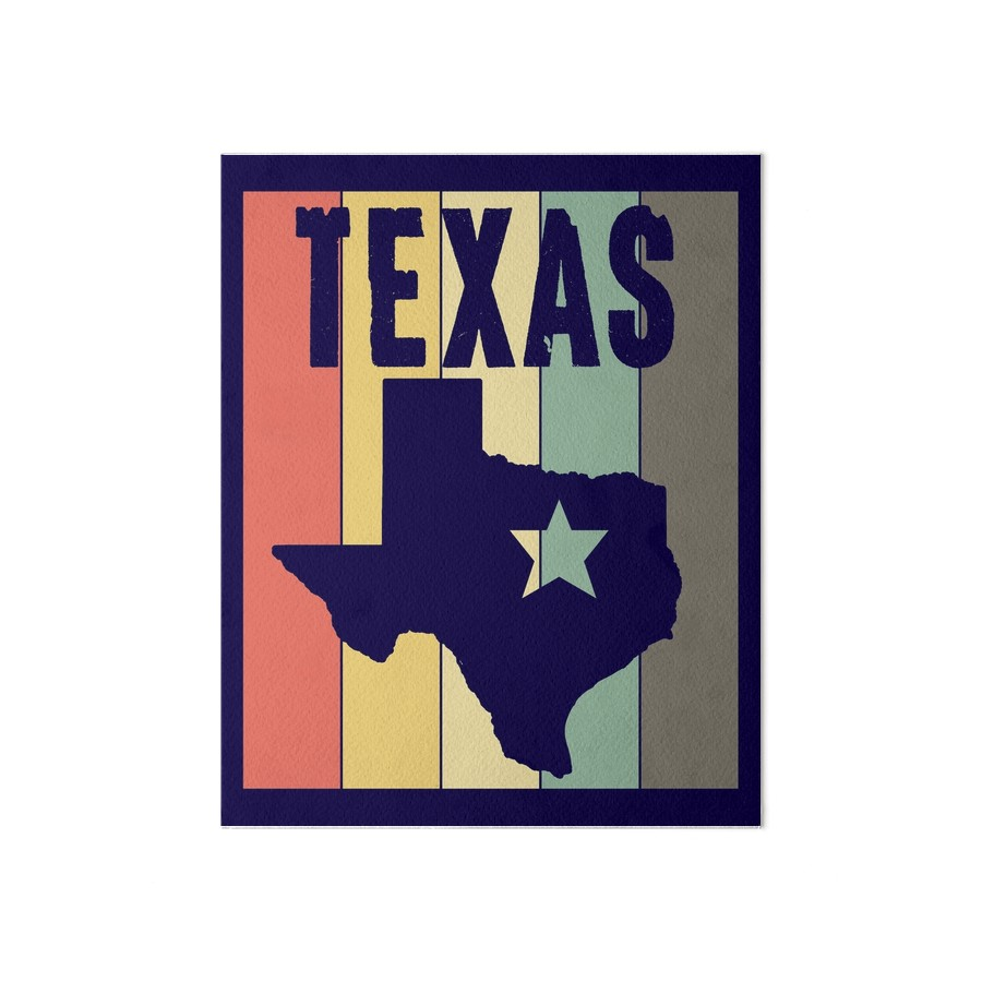 900x900 Texas Retro Vintage Art Design State Silhouette Art Boards By