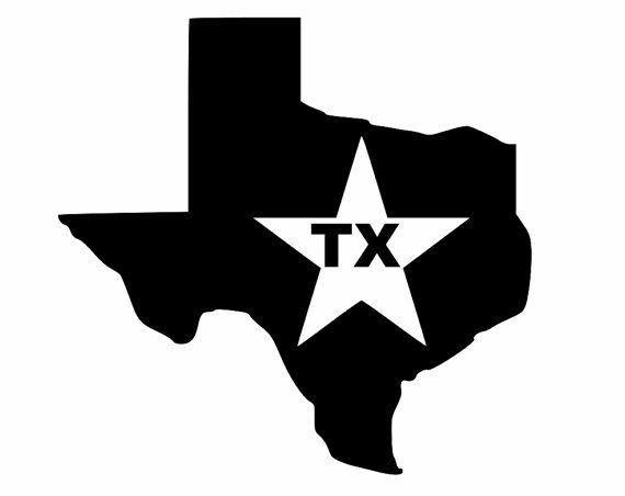 570x452 Texas Decals, Lone Star State Silhouette, Custom Decal, For Your