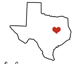 340x270 Texas Shape Svg Etsy