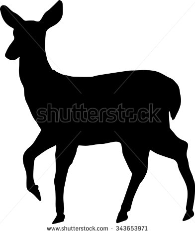 392x470 White Tailed Deer Clipart Doe