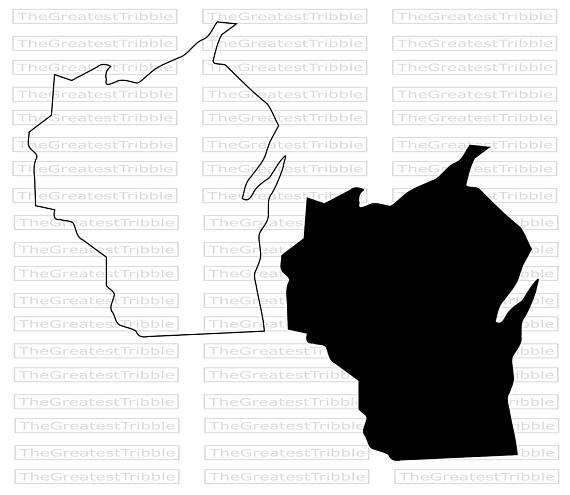 570x495 Wisconsin State Map Svg Png Jpg Vector Graphic Clip Art Wisconsin