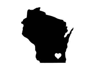 340x270 Wisconsin Home Decal Etsy