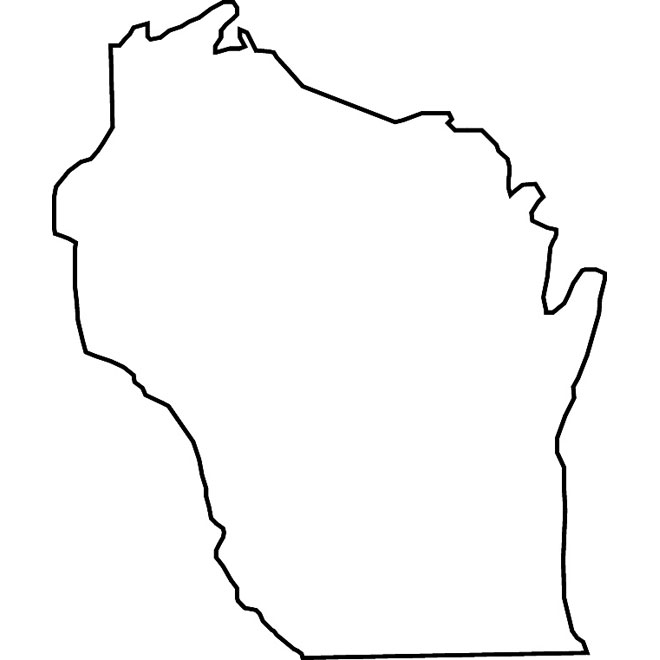 660x660 Wisconsin Map Vector