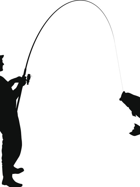534x712 Guy In Boat Fishing Clipart Silhouette