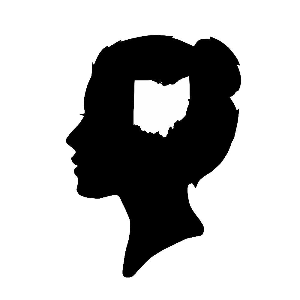 1000x1000 An Ohio State Of Mind Silhouette Print Female Buckeyes