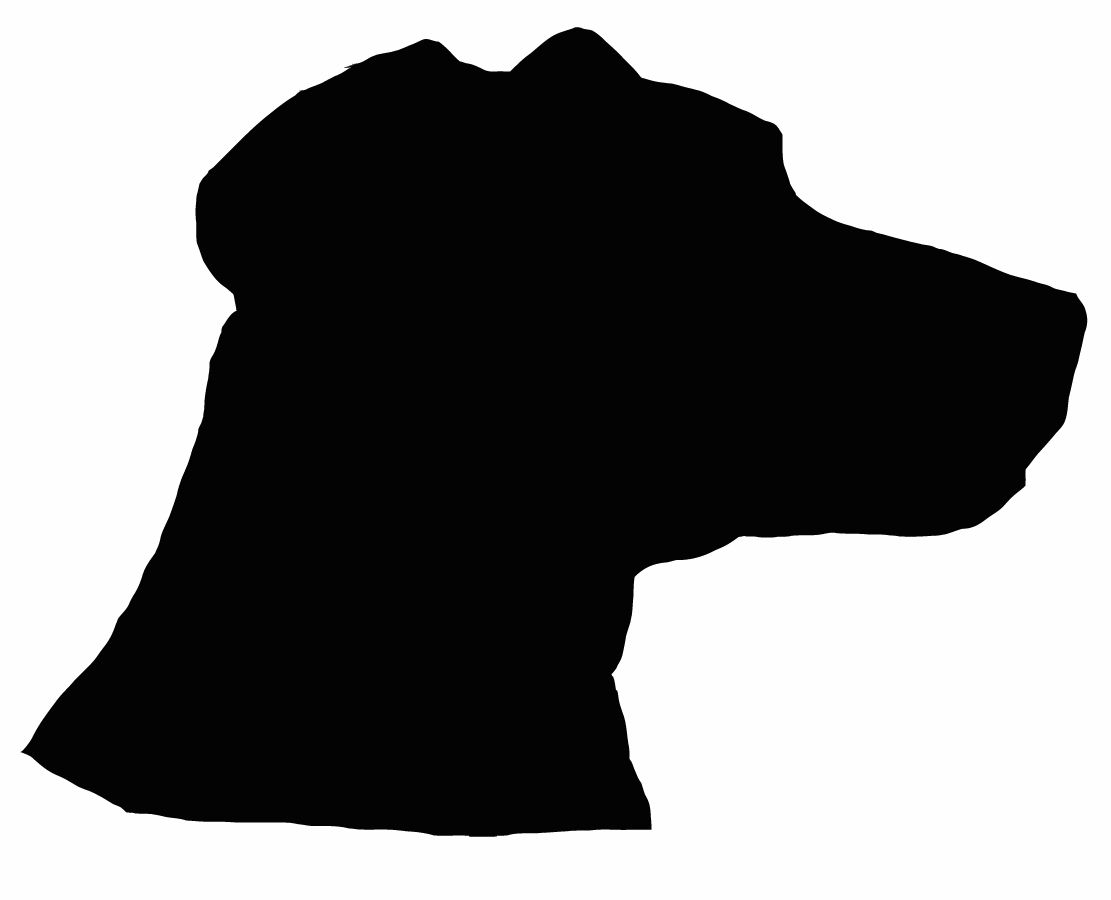 1111x900 Size Dog Silhouette Wall Decal Farm Animals Life Size Silhouette