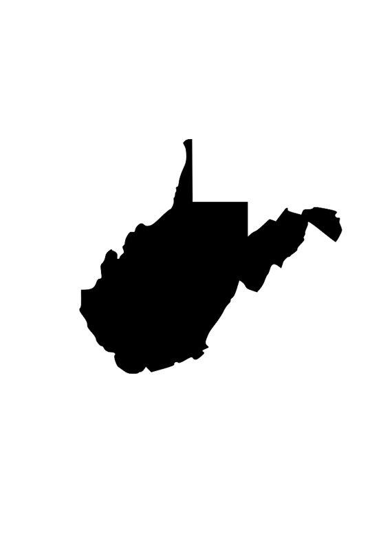 570x806 State Of West Virginia Wv Outline Svg Digital Download Cuttable