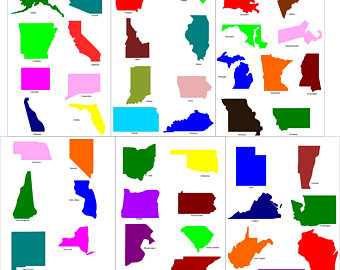 340x270 State Silhouette Etsy