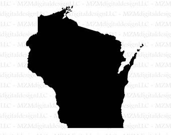 340x270 Wisconsin Silhouette Etsy