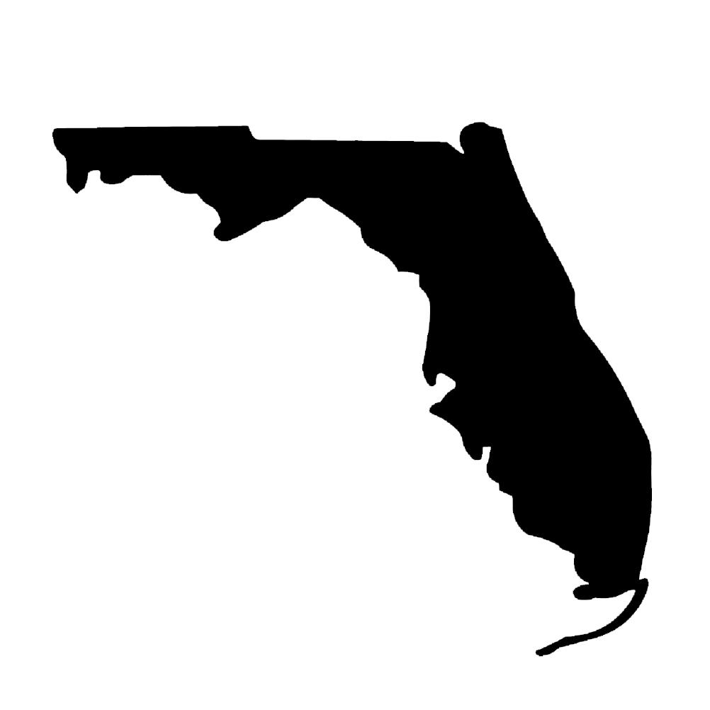 1002x1002 Florida State Silhouette Vinyl Sticker Car Decal