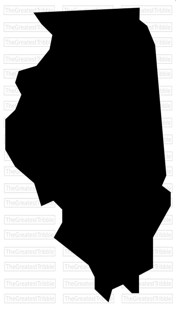 570x1004 Illinois State Map Svg Png Jpg Vector Graphic Clip Art