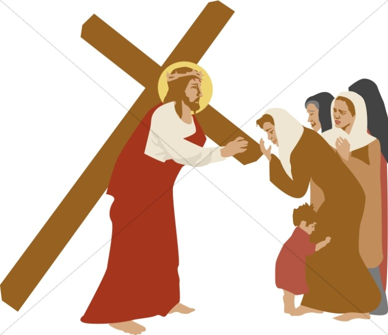776x669 Procession To Calvary Women In Sadness Stations Of The Cross Clipart