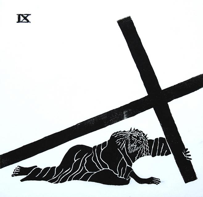 658x638 9. Jesus Falls For The Third Time Stations Of The Cross
