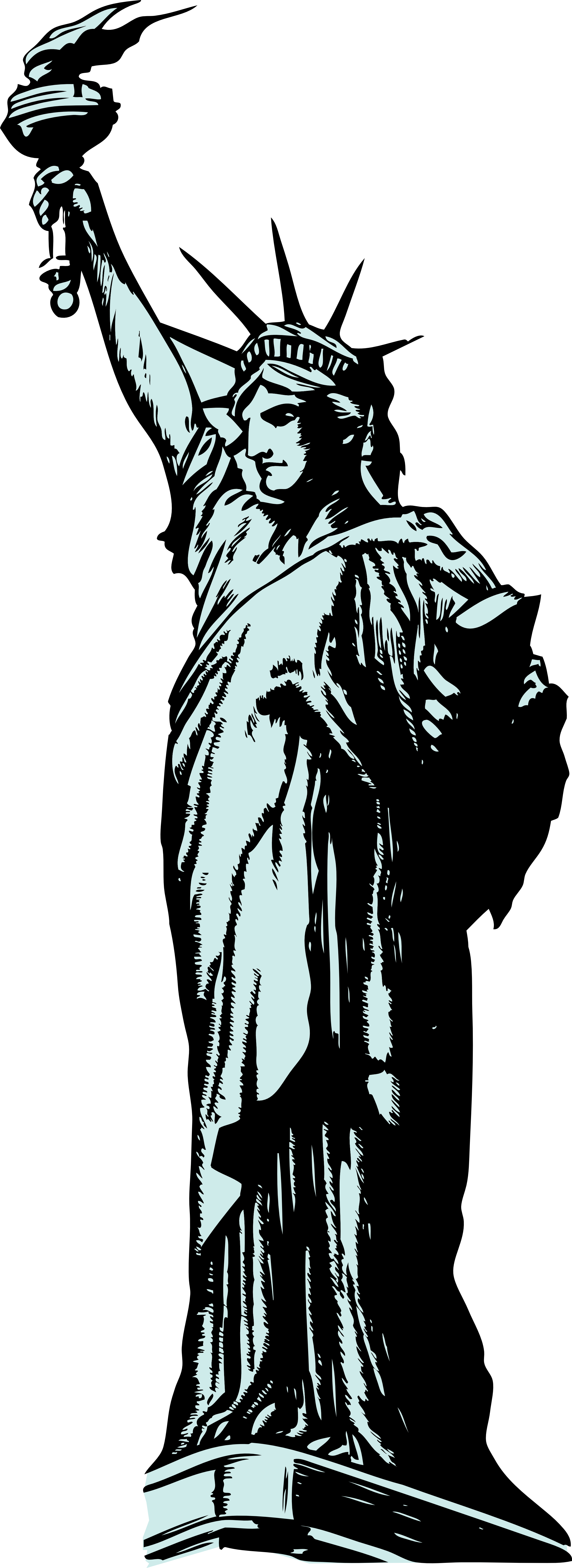 2555x6996 Image For Gt, Statue Of Liberty Silhouette Clip Art