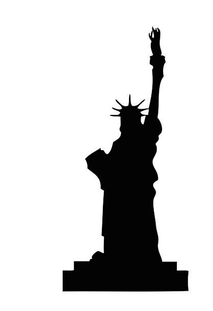 418x609 Statue Liberty, Textures, Dark, Backgrounds, Silhouette, Outline