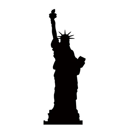 434x463 Statue Of Liberty Silhouette