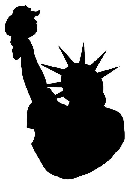 457x640 Silhouette Statue Of Liberty Photo Sharing Clipart Nyc