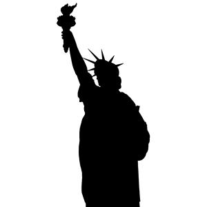 300x300 Statue Liberty Silhouette Clipart, Cliparts Statue
