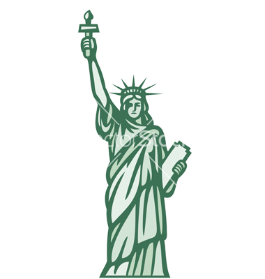 380x400 Statue Of Liberty Silhouette Clipart