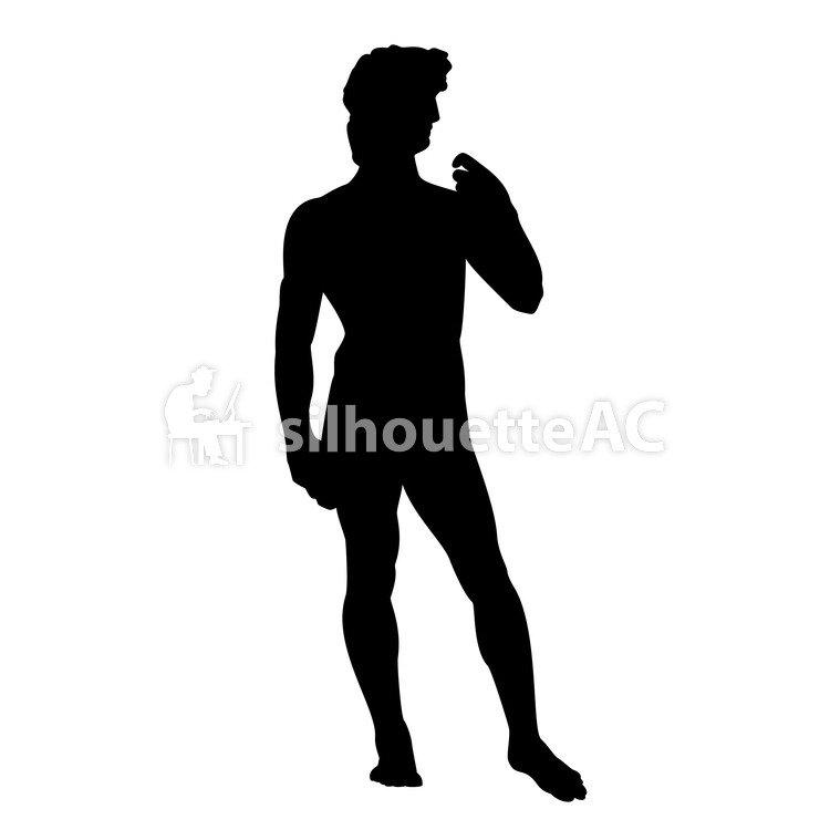 750x750 Free Silhouette Vector Statue Of David