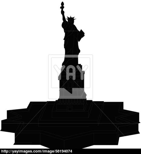 467x512 Statue Of Liberty Vector Silhouette Vector