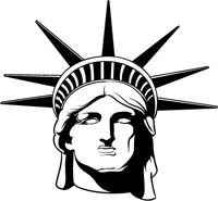 200x185 Statue Of Liberty Clipart Face