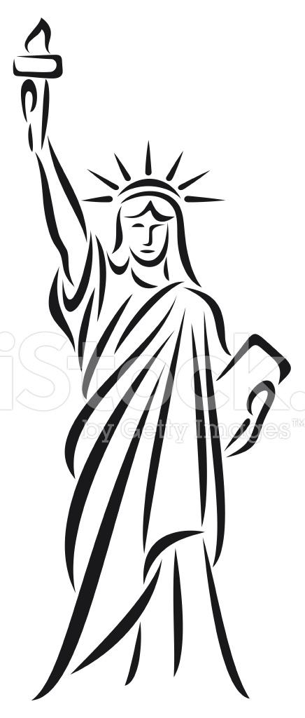 436x1024 Statue Of Liberty Stock Vector