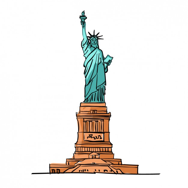 626x626 Coloured Statue Of Liberty Free Vectors Ui Download