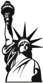183x350 Statue Of Liberty Torch Silhouette
