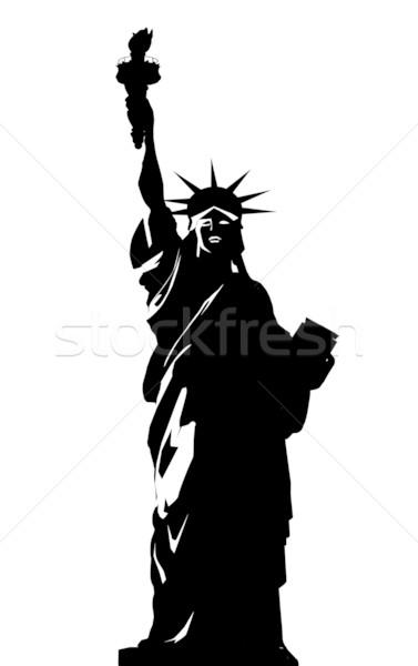 377x600 Vector Illustration Of Statue Of Liberty Vector Illustration