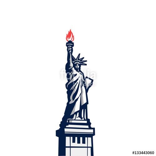 500x500 Liberty Statue Monument Vector Silhouette Full Body Usa New York