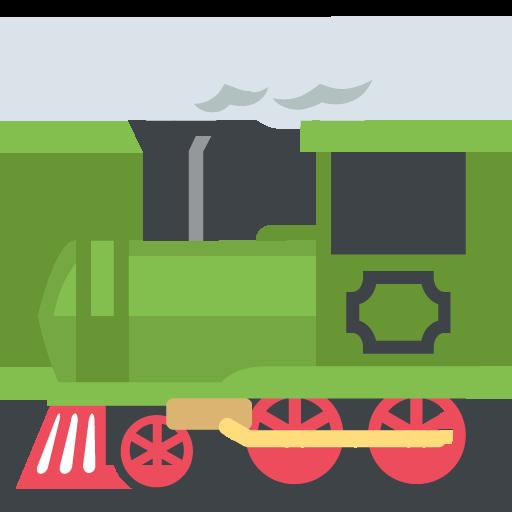 512x512 Steam Locomotive Emoji Vector Icon Free Download Vector Logos