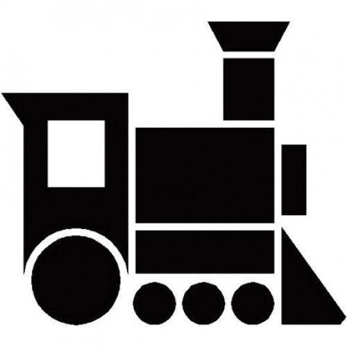 500x500 Steam Train Silhouette Polar Express Silhouettes