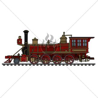 325x325 Vintage American Steam Locomotive Gl Stock Images