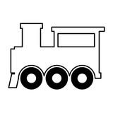 160x160 Steam Train Silhouette Isolated Icon Vector Illustration Design