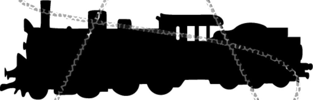 1024x327 Silhouette Of A Steam Train Rail Transportation Amp Locomotion