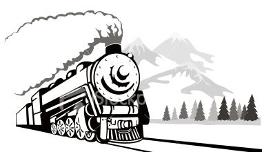 380x220 Steam Train And Train Line