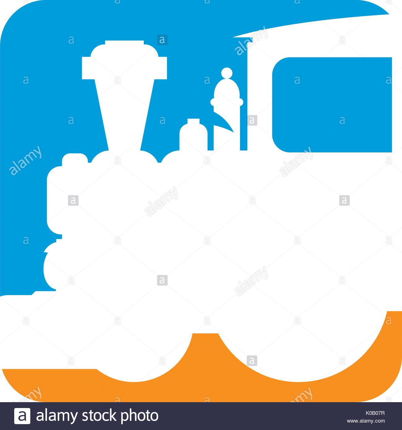 1300x1390 Cartoon Steam Train In Silhouette Illustration Stock Vector Art