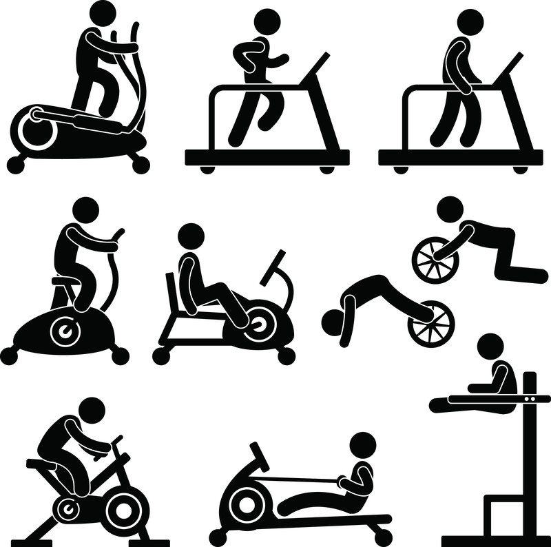 800x794 Gym Fitness Silhouette Clipart