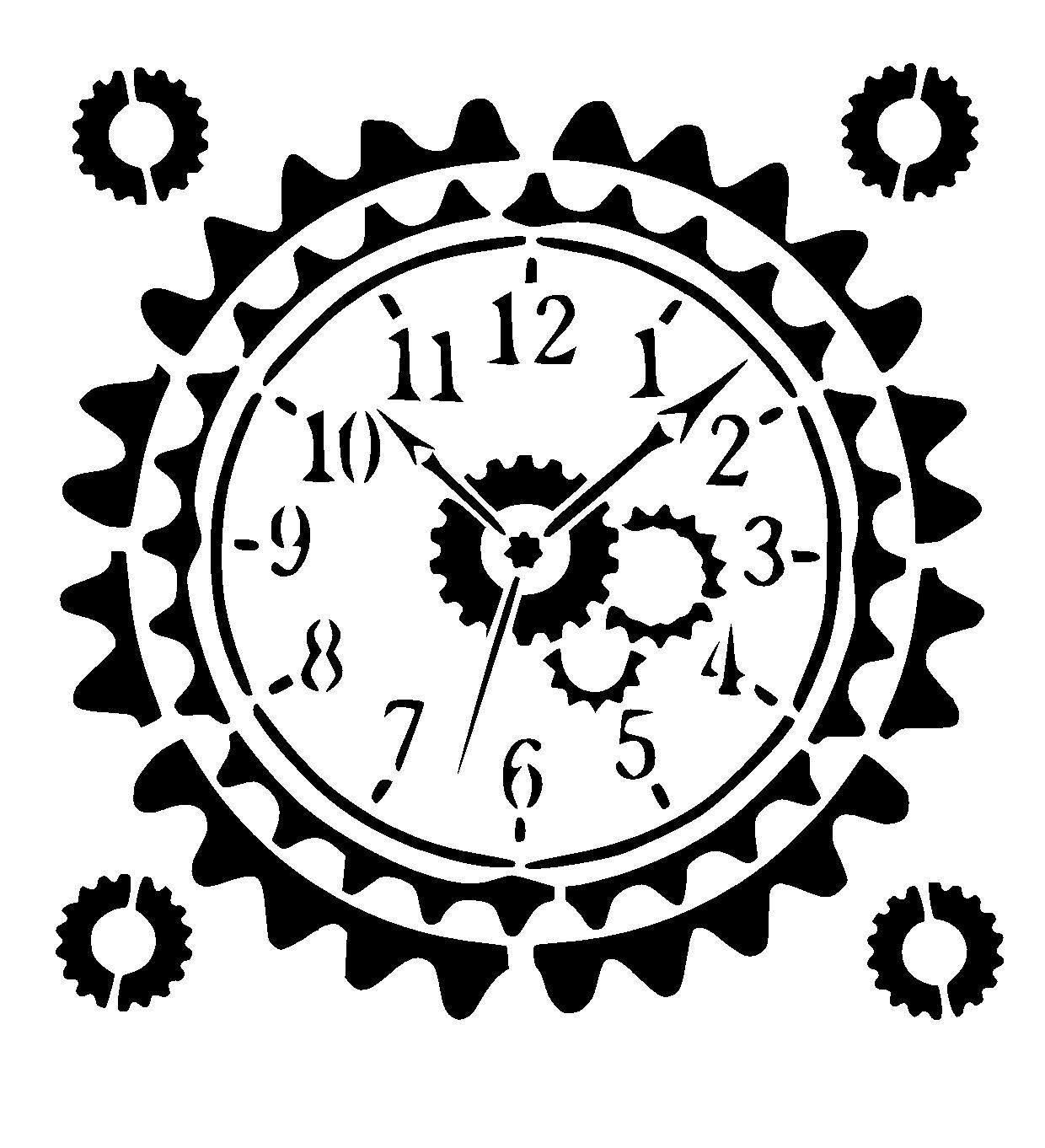 1240x1362 Steampunk Clock Stencil Craft,fabric,glass,furniture,wall Art