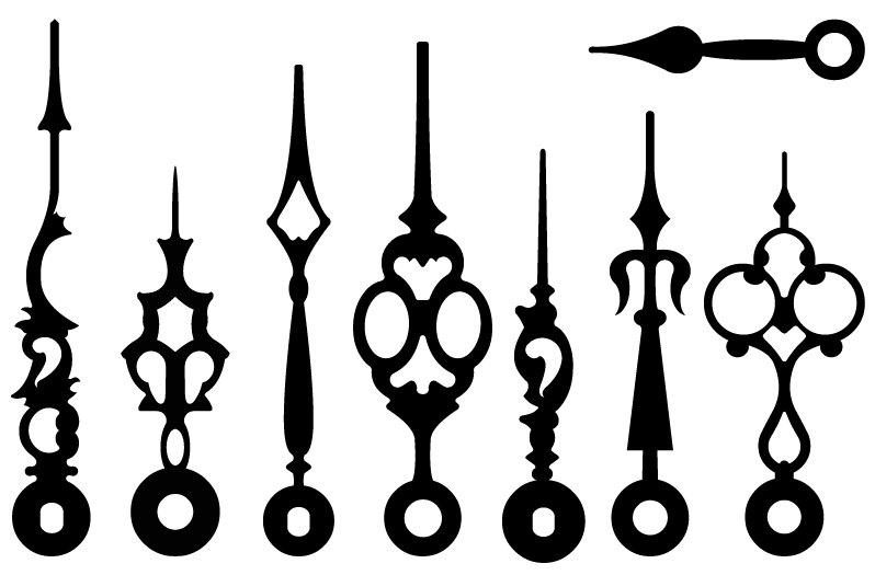798x525 Vintage Victorian Steampunk Clock Hands Vectors Clip Art