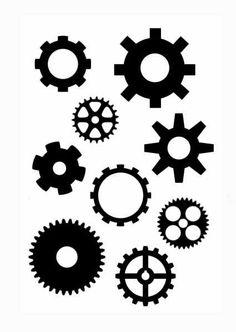 236x332 Steampunk Gear Stencil