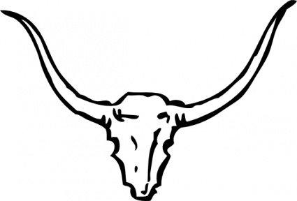 425x288 Bull Head Clip Art, Free Vector Bull Head