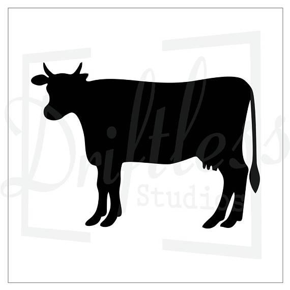570x570 Cattle Stencil 1, Cow Stencil, Steer Stencil, Farm Stencil